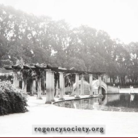 Part of the childrens' playground, showing the ornamental boating lake 1930s | Image reproduced with kind permission of The Regency Society and The James Gray Collection