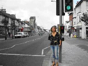 Christiane Niemeyer on Lewes Road | Photo by Sally Ann Clarke
