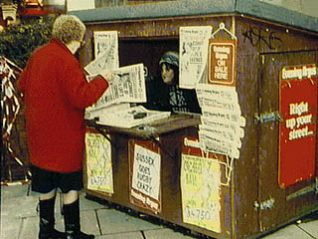 Photo of the kiosk in Churchill Square in 1994