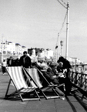 Photo of deckchairs on the promenade in King's Road, Brighton