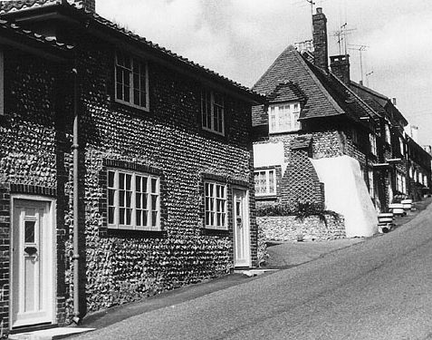 Church Hill cottages, Patcham, ca 1960 | Photo from the private collection of Martin Nimmo