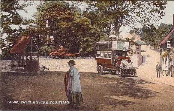 Postcard of Church Hill, Patcham, ca 1920 | From the private collection of Martin Nimmo