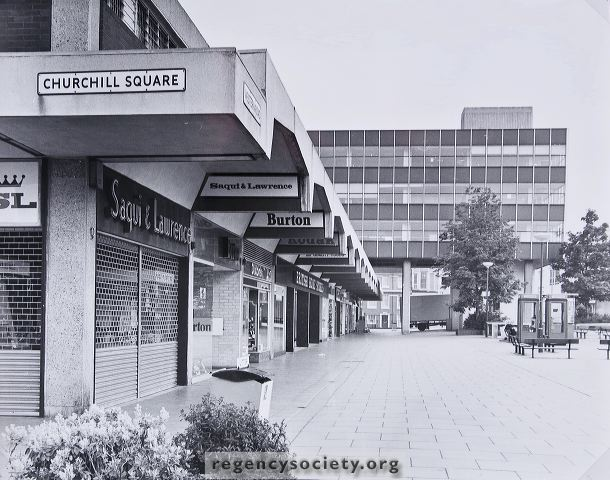 Churchill Square photographed in the 1980s | Image reproduced with kind permission of The Regency Society and The James Gray Collection