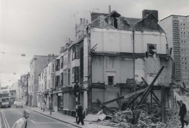 Photograph of the City of Hereford pub demolished | Image reproduced with permission from Brighton History Centre