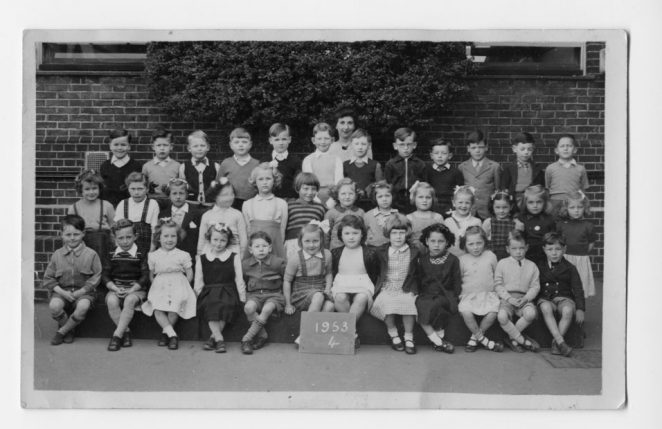 Coombe Road School, Class 4 (Miss Connolly), 1953 | From the private collection of Lottie Longshore