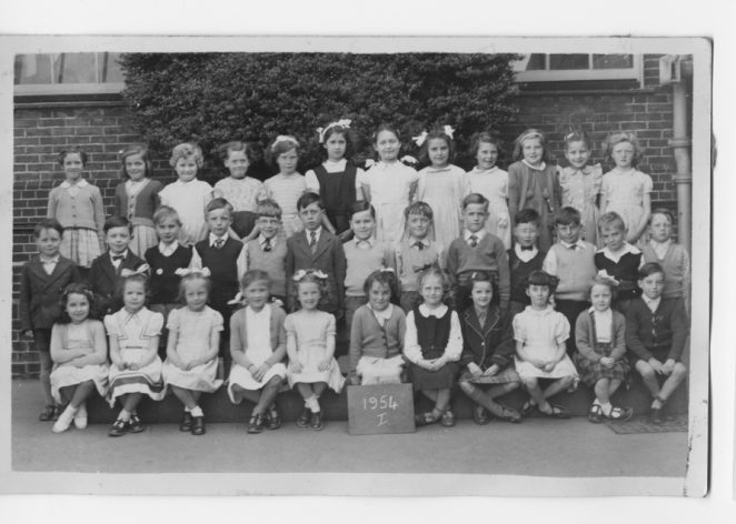 Coombe Road School, Junior Class 1, 1954 | From the private collection of Lottie Longshore