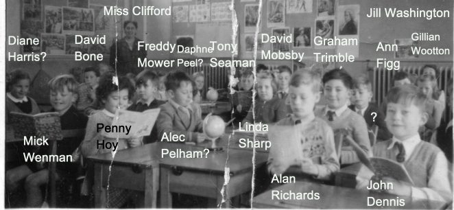 Benfield Junior School: Miss Clifford's class 1955/6 | From the private collection of Claudette Newman