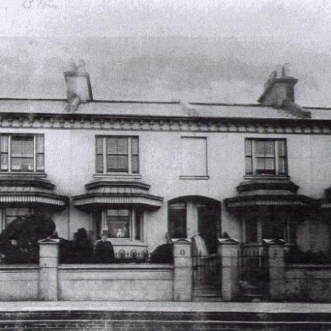 Photo of Clifton Terrace, 1870s | From the private collection of Mr Tappin