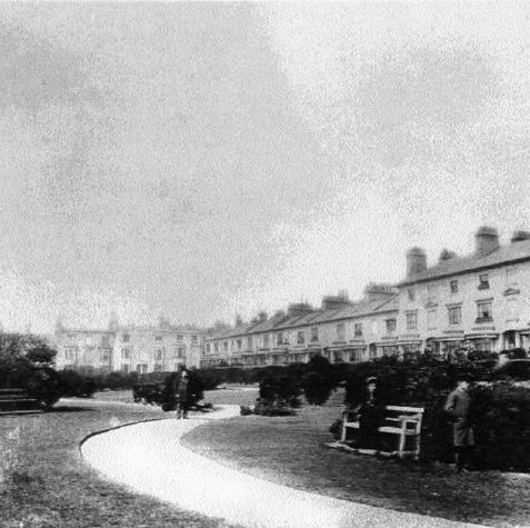 Photo of the gardens in front of Clifton Terrace, 1880 | From the private collection of Mr Tappin