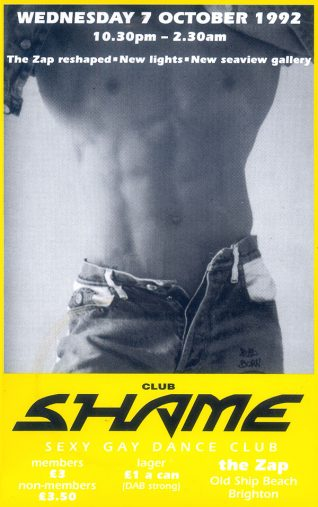 Club shame flyer | Image from the Zap archive