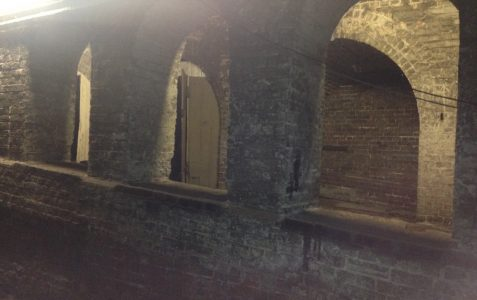 Underground cobbled street