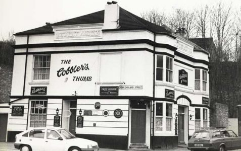 The Cobbler's Thumb, New England Street: then and now
