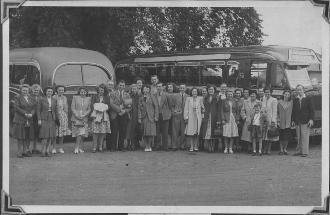 London Road Co-op staff outing 1949 | From the private collection of Chris Pellett