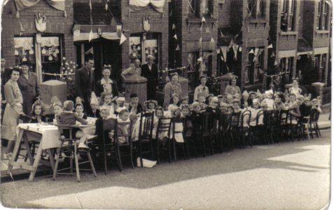 Totland Road Coronation Party 1953