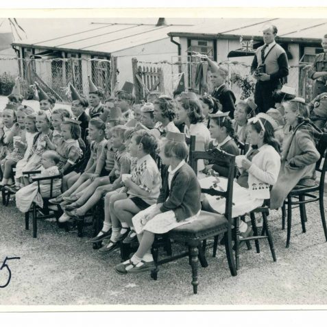 Wiston Kids watching Punch and Judy:that's my Dad at the back with the camera | From the private collection of Eric Cook