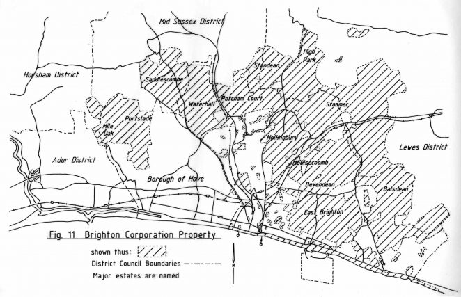 Land owned by Brighton Borough Council
