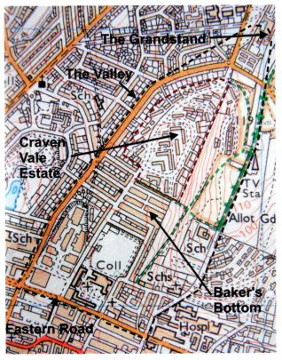 Craven Vale estate and The Valley:click to open a large version in a new window. | Craven Vale Community Association