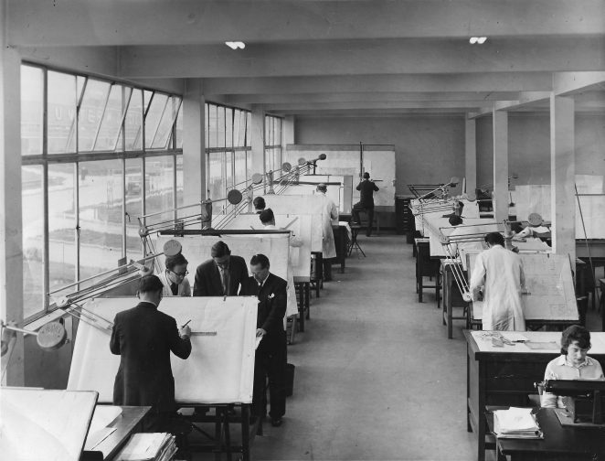 CVA Drawing Office c. 1952 | From the private collection of Jack Galway