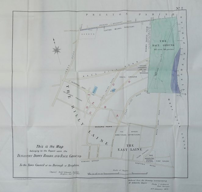 1864 Map | Map from the 1878 book Tenantry Lands, owned by Peter Groves