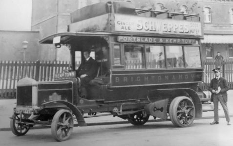 Bus photographed c1906