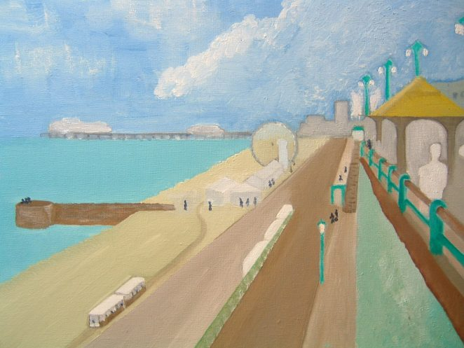 Marine Parade. Summer. 1958. | Ian Hunt. Oil Painting. 2008