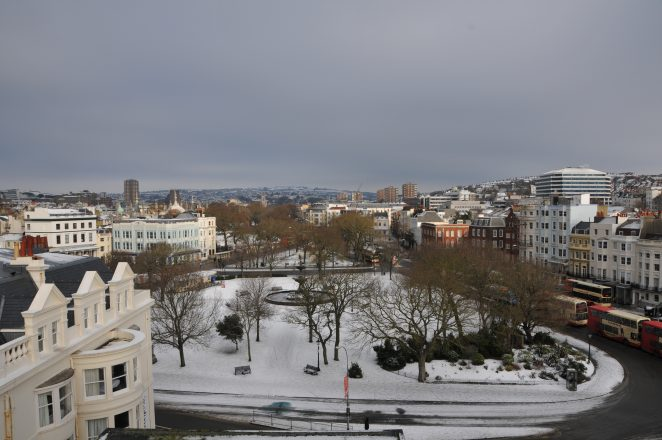Snow at the Old Steine 2010 | Photo by James Willis