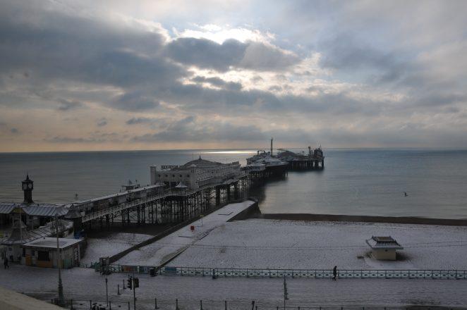 Snow on Brighton pier 2010 | Photo by James Willis