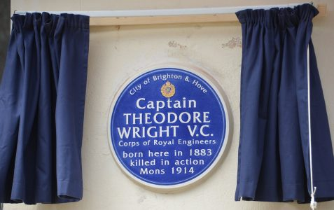 Blue plaque: Captain Theodore Wright VC
