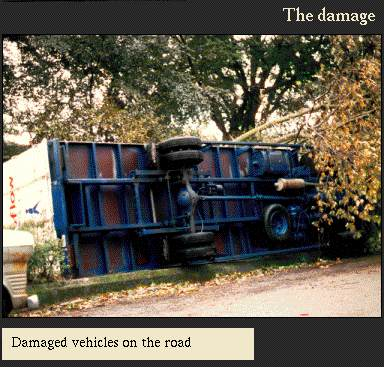 Damaged vehicles on the road | Image from the 'My Brighton' exhibit