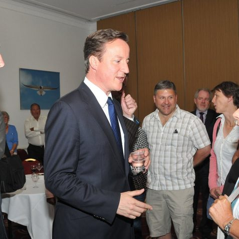 The PM with Mike Wetherley MP | Photo by Tony Mould
