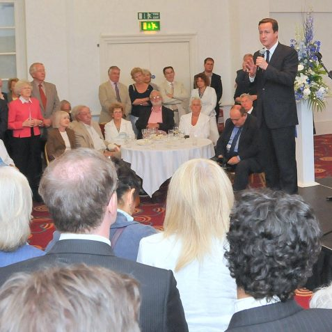 The PM was a big hit with the audience | Photo by Tony Mould