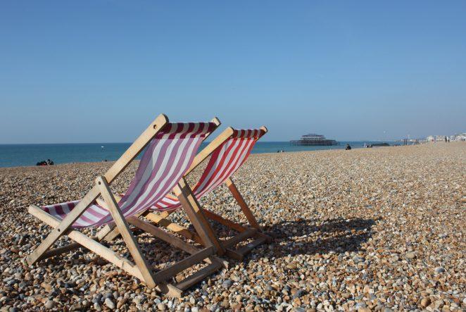 Brighton beach deck chairs | Photo by Joanne Neville