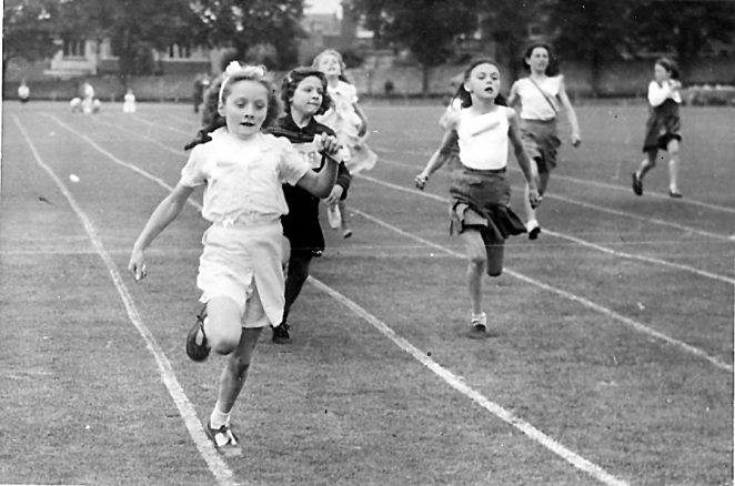 Preston College Sports Day: Girls 100 yards Handicap 1948 | From the private collection of Brian Hough