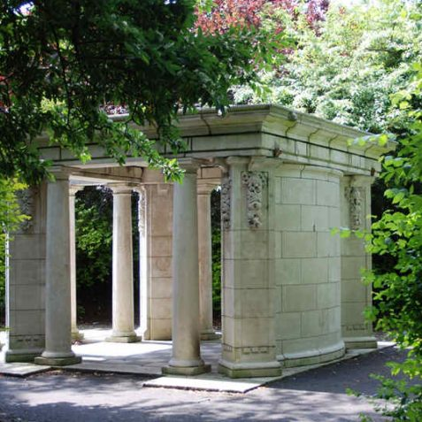 Peace Gardens: Doric temple | Photo by Tony Mould