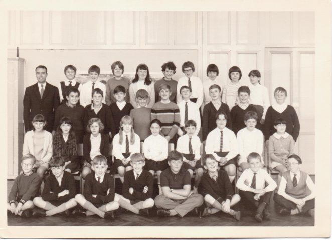 Mr Hall's class 11 1968. | From the private collection of Graham Maskell