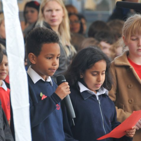 Downs Junior School Remembrance Service | Photo by Tony Mould
