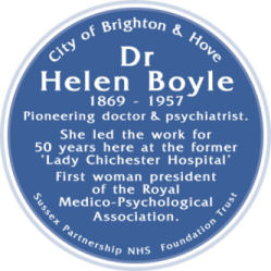 Blue Plaque: Dr Helen Boyle