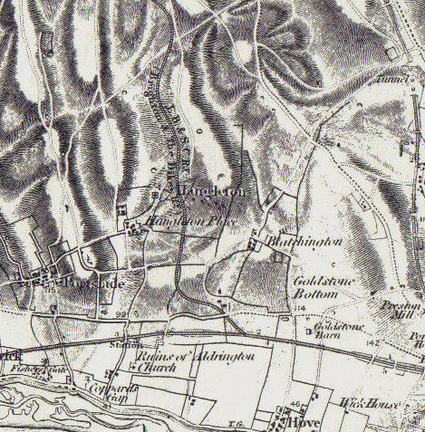 The Dyke Railway c. 1888 | Ordnance Survey