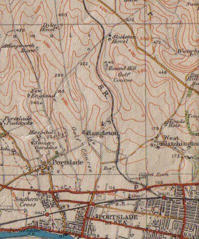 The Dyke Railway 1916 | Ordnance Survey