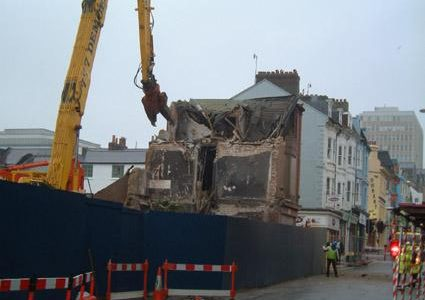 Demolition in preparation for Jubilee Street
