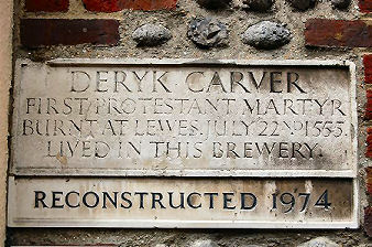 Deryk Carver's residence in Black Lion Street
