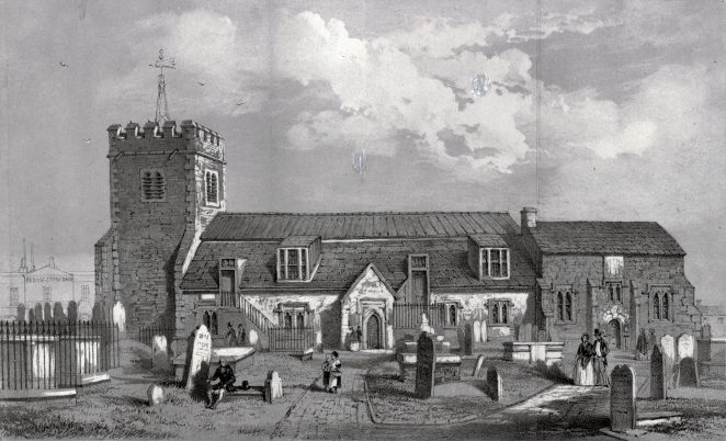 Drawing of St Nicholas' Church early 1800s | Royal Pavilion and Museums Brighton and Hove