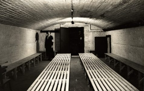WWII air raid shelters