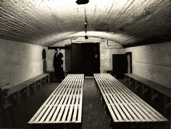 Air raid shelter in Royal Pavilion basement, 22 September 1939 | Royal Pavilion and Museums Brighton and Hove