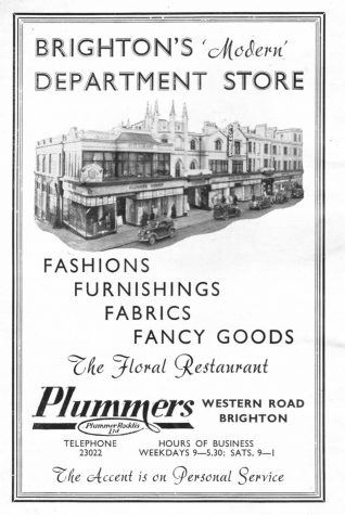 1952 advertisement for Plummers | From the private collection of Jennifer Drury
