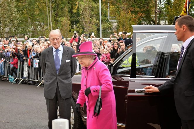 The Queen and the Duke of Edinburgh arrive at The Keep | Photo by Tony Mould