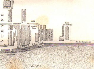 East Cliff 1799 | Reproduced from Brighton in the Olden Times by J G Bishop, published in 1892