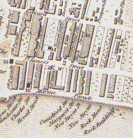 East Cliff 1815 | Reproduced from Epitome of Brighton by R Sickelmore, published in 1815