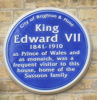 Blue plaque at Kings Gardens Hove | Photo by Tony Mould