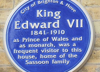 Blue plaque for Edward VII